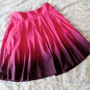 Pink to purple ombre party skirt